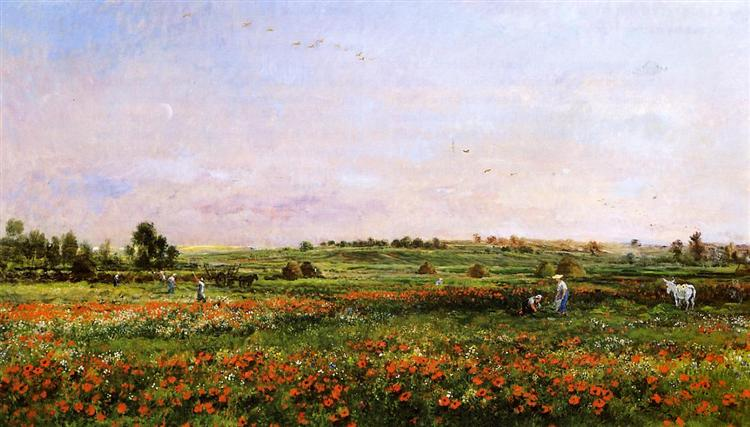 Fields in the Month of June - Charles-Francois Daubigny