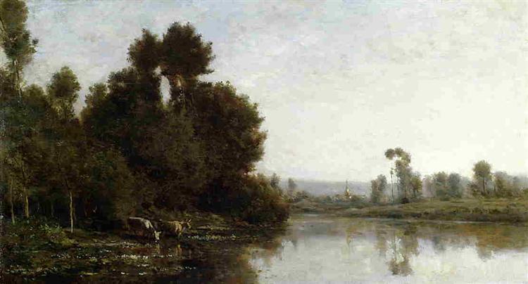 The Banks of the River, 1863 - Charles-Francois Daubigny