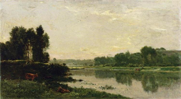 The Banks of the River, 1868 - Charles-Francois Daubigny