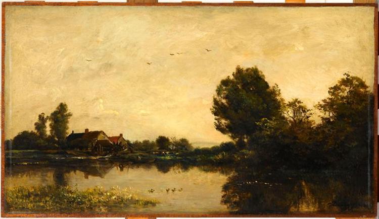 The Mill of the Gylieu, 1868 - Charles-Francois Daubigny