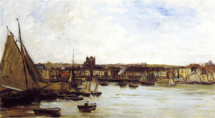 The Port of Dieppe, c.1876 - c.1877 - Charles-Francois Daubigny