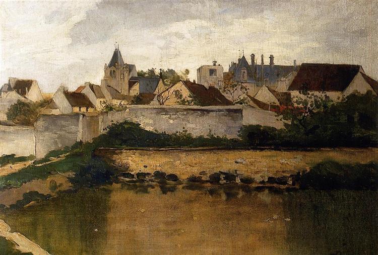 The Village, Auvers sur Oise - Charles-Francois Daubigny