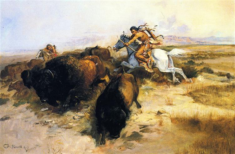 Buffalo Hunt, 1897 - Charles M. Russell