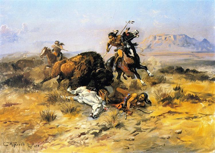 Buffalo Hunt, 1898 - Charles M. Russell