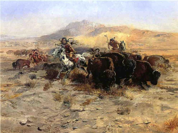 Buffalo Hunt, 1899 - Charles M. Russell