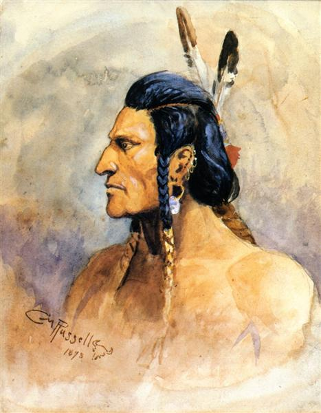 Indian Brave, 1898 - Charles M. Russell