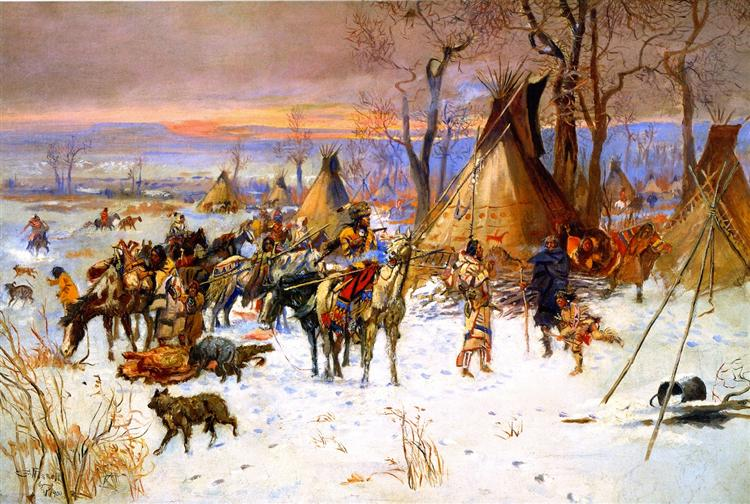 Indian Hunters' Return, 1900 - Чарльз Марион Рассел