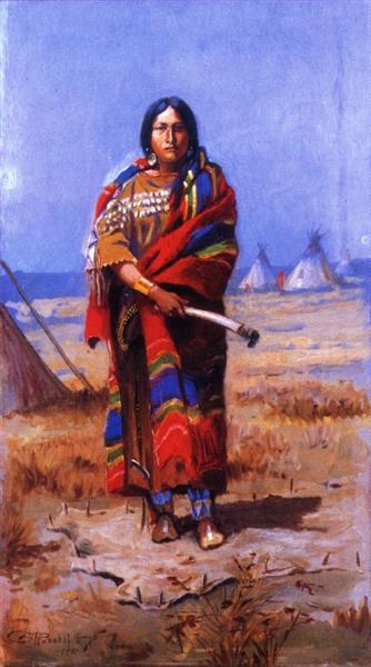 Indian Squaw, 1901 - Charles M. Russell