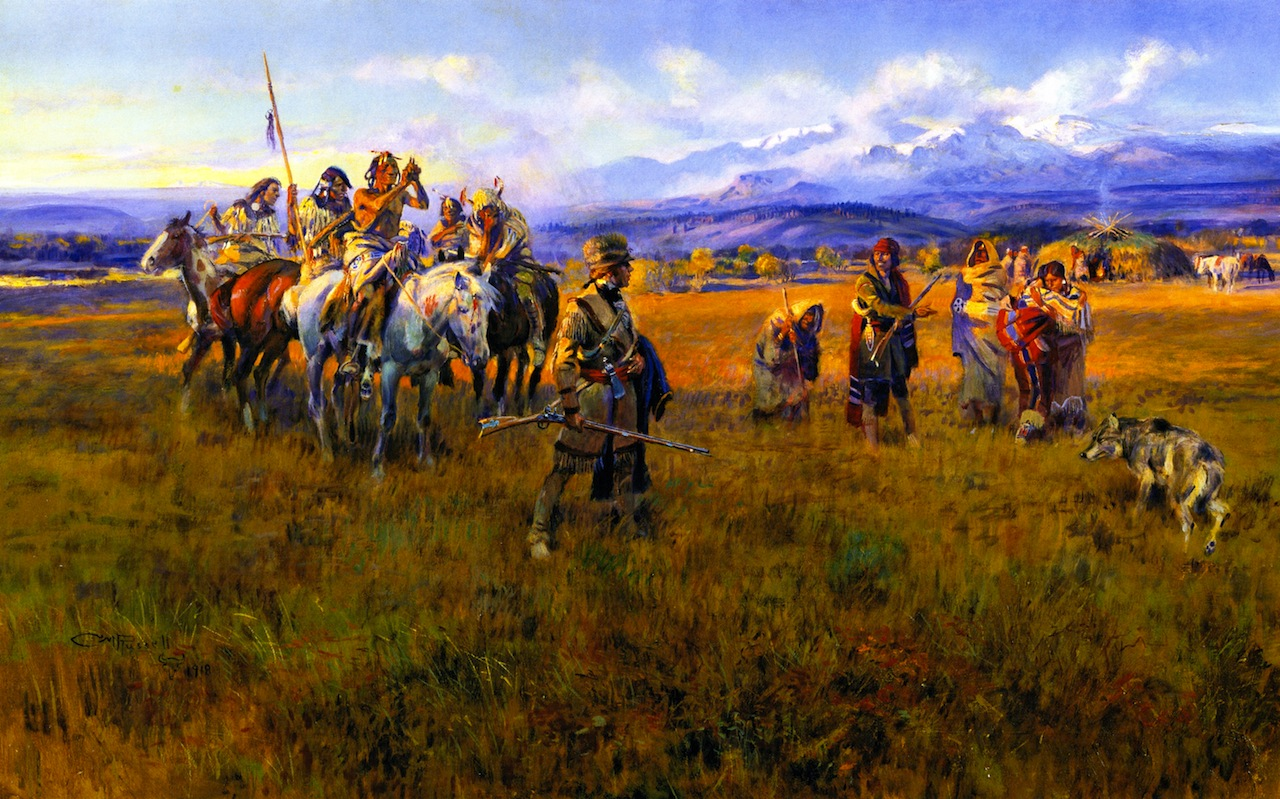 the life and works of the bird woman sacajawea Lewis and clark reach shoshone camp led by sacajawea the bird woman  charles marion russell american american 1918 oil on canvas overall: 36.