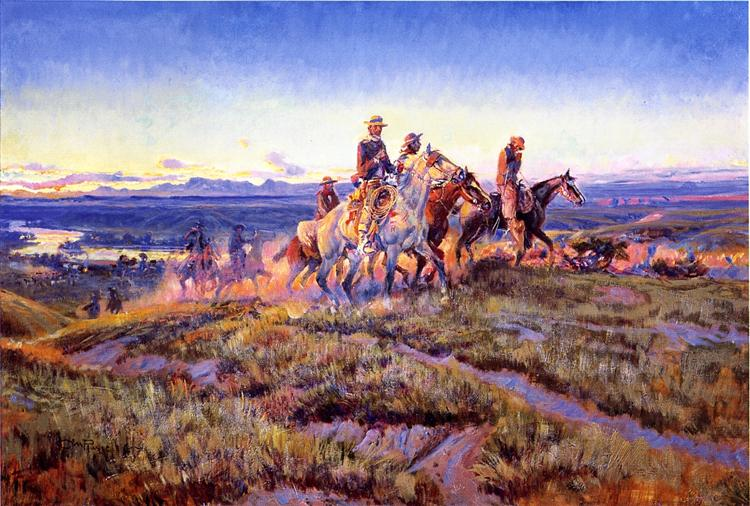 Men of the Open Range, 1923 - Charles M. Russell
