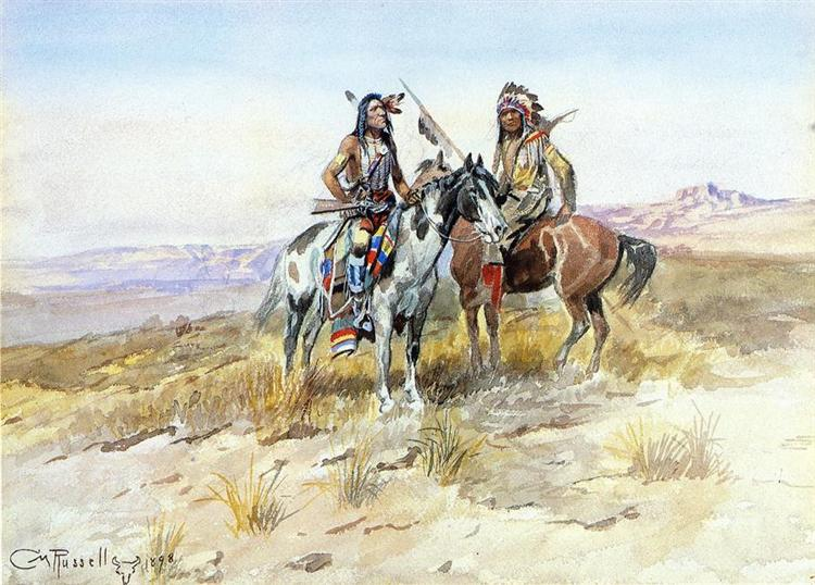 On the Prowl, 1898 - Charles M. Russell