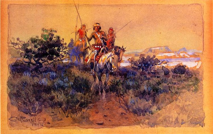 Return of the Navajos, 1919 - Charles M. Russell