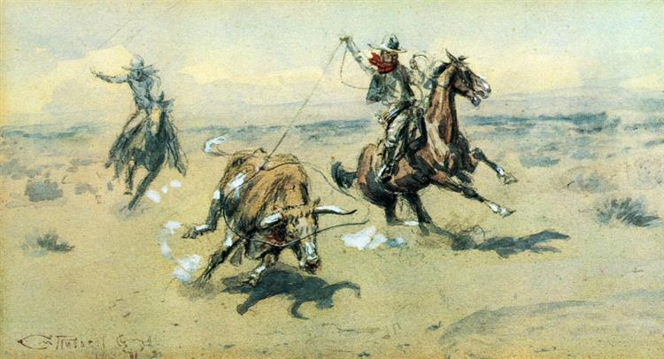 The Bolter, #2, 1903 - Charles M. Russell