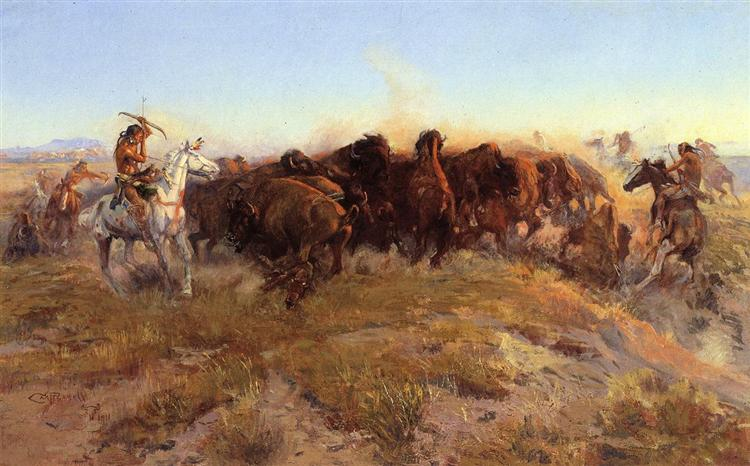 The Surround, 1911 - Charles Marion Russell