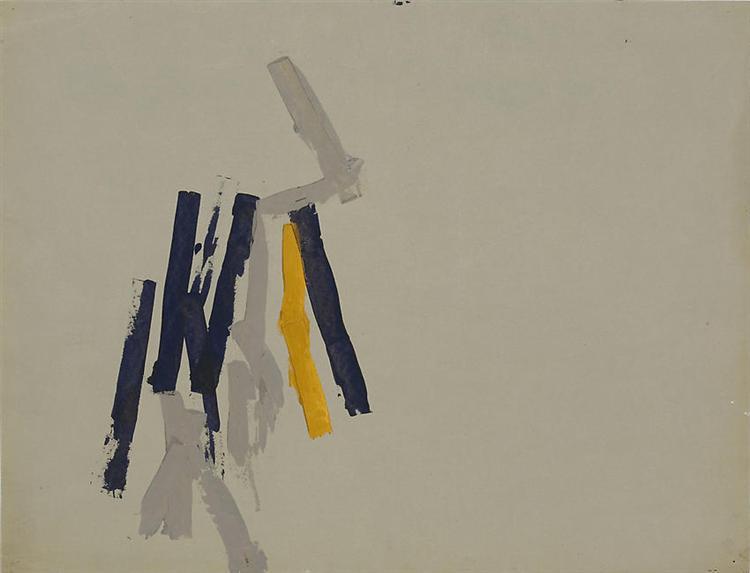Striped Picture, 1962 - Charlotte Posenenske
