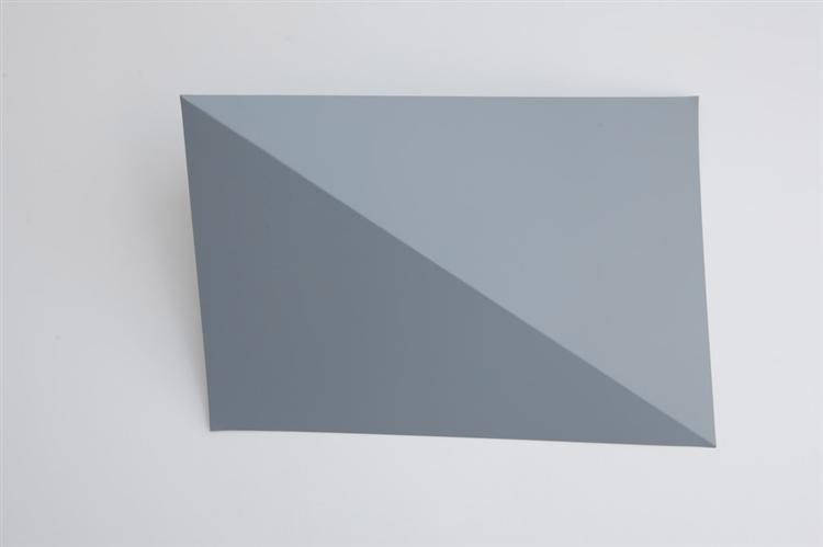 Three-Dimensional Picture (diagonal folding), 1966 - Charlotte Posenenske