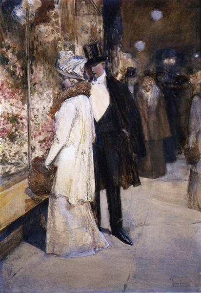A New Year's Nocturne, New York, 1892 - Childe Hassam