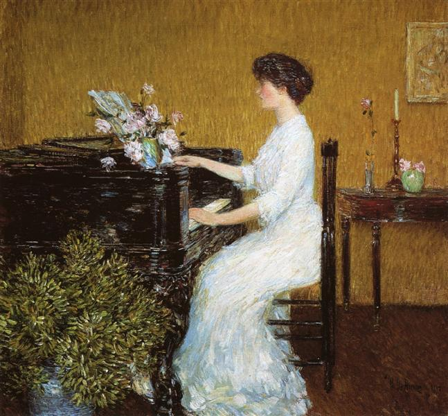 At the Piano, 1908 - Чайльд Гассам