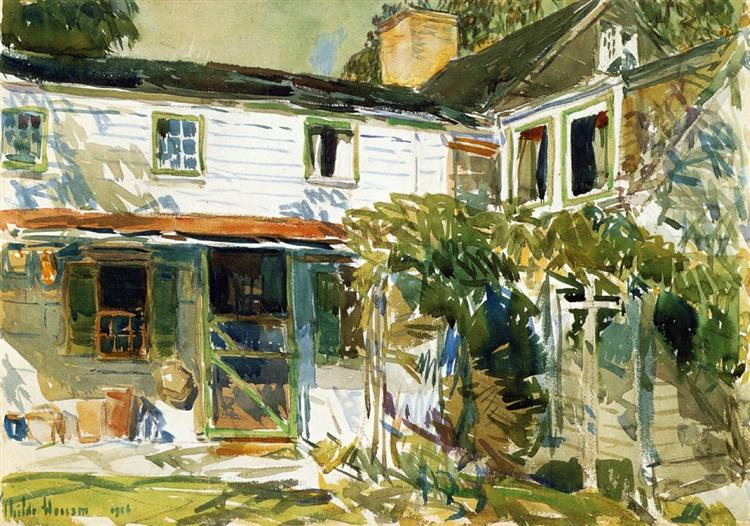 Back of the Old House, 1916 - Childe Hassam