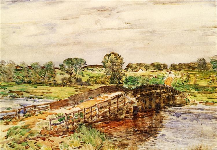 Bridge at Old Lyme 02, 1908 - Childe Hassam