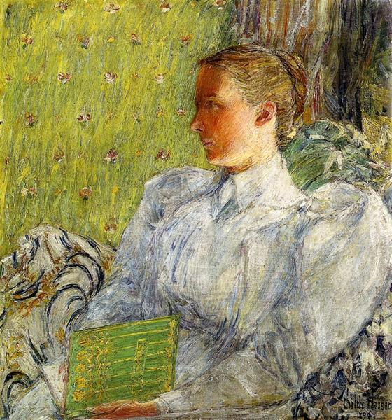 Edith Blaney (Mrs. Dwight Blaney), 1894 - Childe Hassam