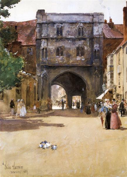 Gateway at Canterbury, 1889 - Childe Hassam