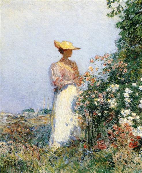 Lady in Flower Garden, 1891 - Childe Hassam