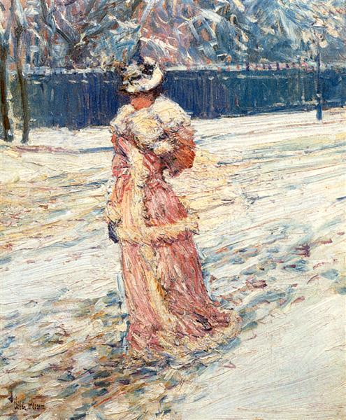 Lady in Pink, 1890 - Childe Hassam