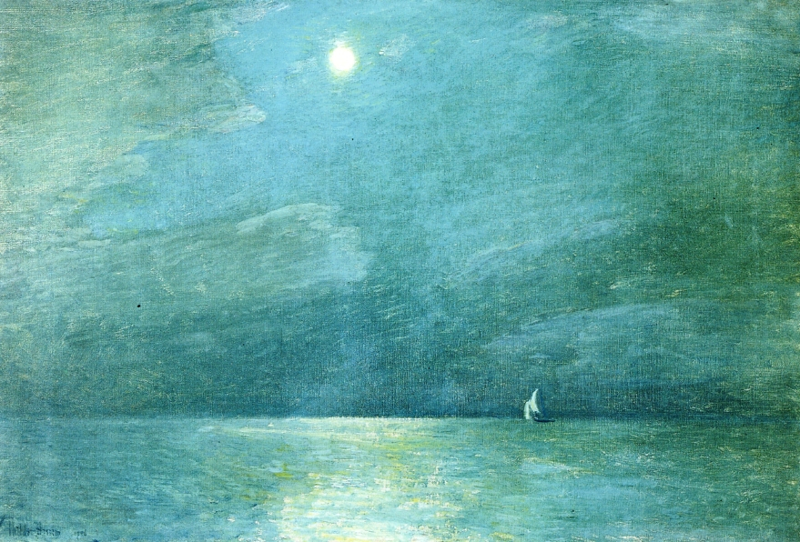 Moonlight On The Sound Childe Hassam