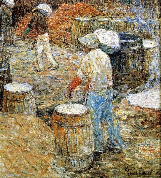 New York Hod Carriers, 1900 - Childe Hassam