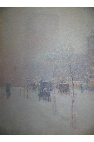 New York, Late Afternoon, Winter, 1900 - Childe Hassam