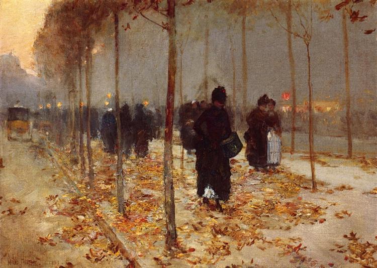 Paris Street, 1889 - Childe Hassam