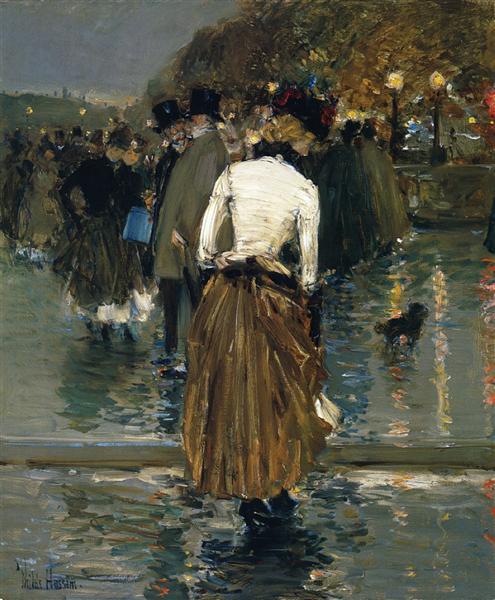 Promenade at Sunset, Paris, 1888 - 1889 - Childe Hassam