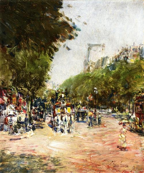Rue Madeleine, Place de l'Opera, 1888 - Childe Hassam