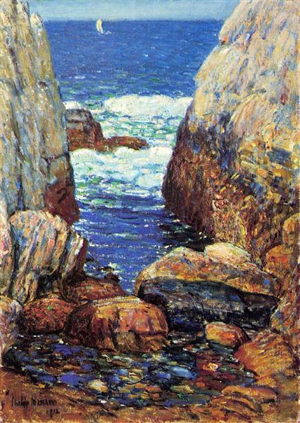 Sea and Rocks, Appledore, Isles of Shoals, 1918 - Childe Hassam