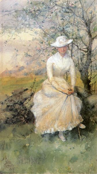 Spring (aka The Artist's Sister), 1885 - Childe Hassam