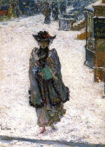 Street Scene, Christmas Morning, 1892 - Childe Hassam