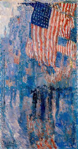 The Avenue in the Rain - Childe Hassam