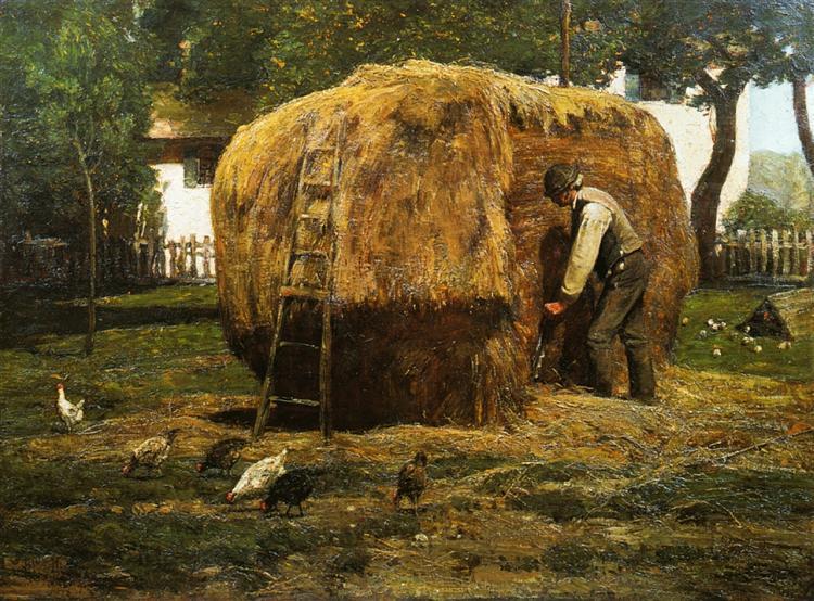 The Barnyard, 1885 - Childe Hassam