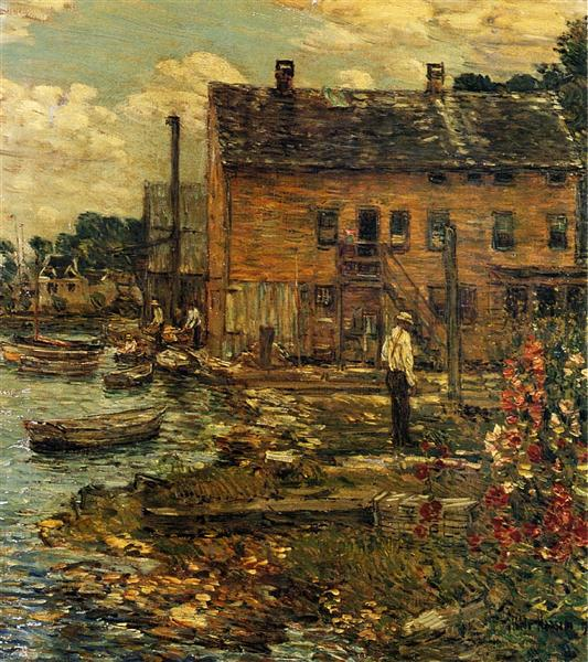 The Fishermen, Cos Cob, 1907 - Childe Hassam