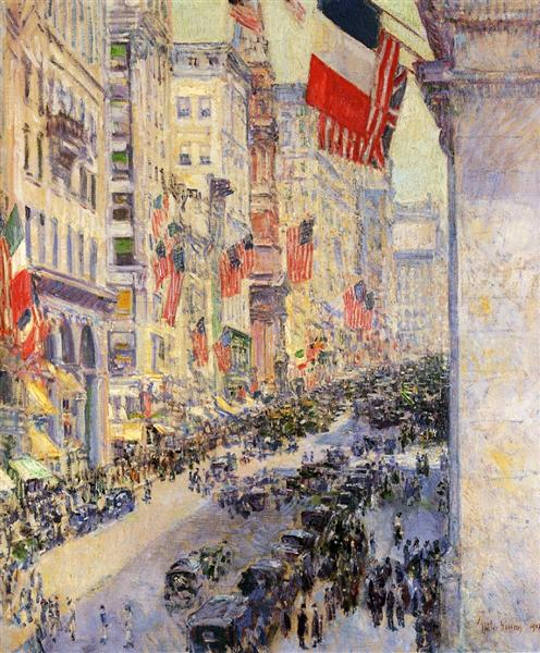 Up the Avenue from Thirty-Fourth Street, 1917 - Childe Hassam