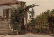 The Garden Steps Leading to the Artist's Studio on Blegdammen - Christen Købke