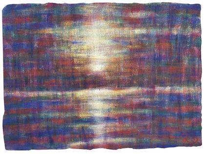Sonnenuntergang am Lago Maggiore - Christian Rohlfs