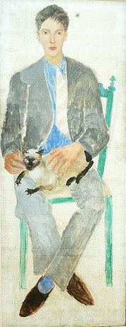 Boy with cat, portrait of fr.Jean Bougoint, 1926 - Крістофер Вуд