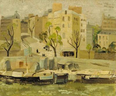 Buildings at Passy, Pari, 1927 - Christopher Wood