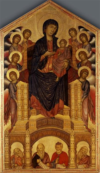 Madonna and Child Enthroned (Maesta) - Cimabue
