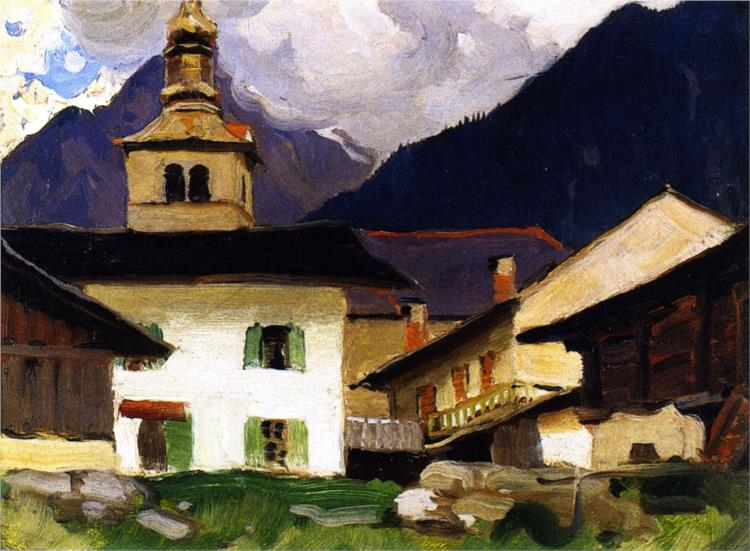 Church of Les Houches, Haute-Savoie, France, 1926 - Clarence Gagnon
