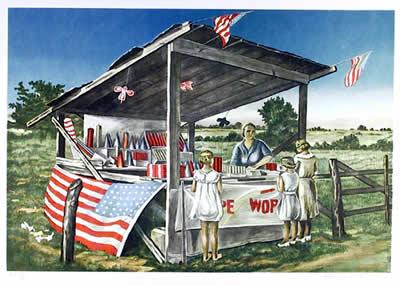 Fireworks Stand, 1979 - Clarence Holbrook Carter