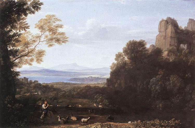 Landscape with Apollo and Mercury, 1660 - Claude Lorrain