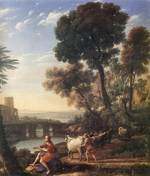 Landscape with Apollo Guarding the Herds of Admetus, 1645 - Claude Lorrain